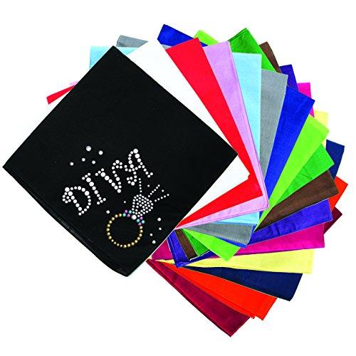 Dog in the Closet, Diva & Ring- Rhinestone Dog Bandana - Choice of Color