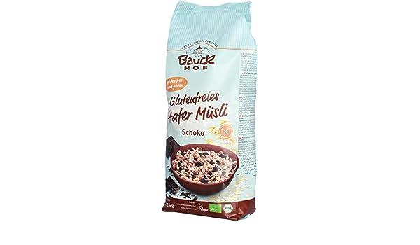 Bauck Hof - Muesli de avena sin gluten con chocolate: Amazon.es: Alimentación y bebidas