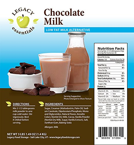 legacy essentials long term bulk powdered dairy chocolate. Black Bedroom Furniture Sets. Home Design Ideas