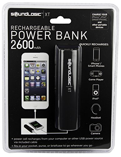 Click to buy Soundlogic Power Bank Rechargeable Power Bank 2600 Black - From only $96.77