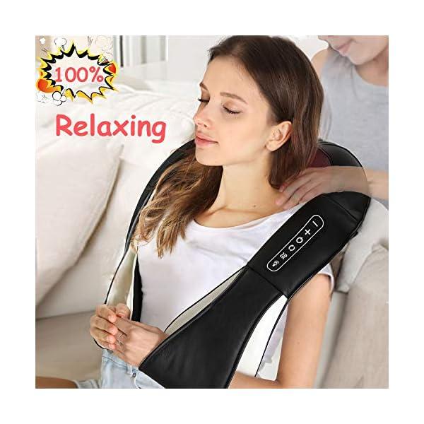 UKEER Massaggiatore Cervicale e da Collo, 3D Shiatsu Massaggiatore per Collo e Spalle rullo massaggio muscolare Con… 1 spesavip