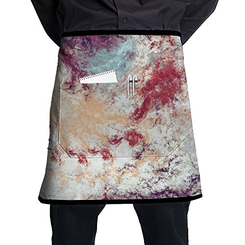 (XiHuan Grill Aprons Kitchen Chef Bib Futuristic Color Clouds Artistic Splashes Of Bright Paints Abstract Painting Pattern Modern Soft Professional For BBQ Baking Cooking For Men Women Pockets)