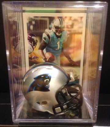 Carolina Panthers Helmet Shadowbox Newton