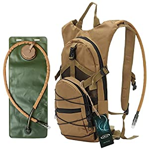 "G4Free hydration pack Sports runner Hydration Backpack With Bladder (19.68""x 8.26""x 4.72"") (Tan)"
