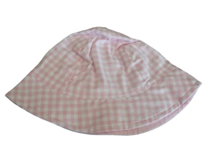 79c4ecc64273b Image Unavailable. Image not available for. Color  Faded Glory Infant   Toddler  Girls Pink White Checked Bucket Hat Floppy Sun Cap