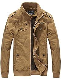 Vcansion Men's Lightweight Fashion Cotton Jackets