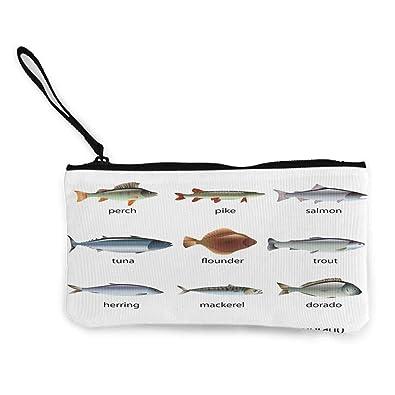RamonDecorFH Monedero pequeño de pescado, grupo de peces con ...