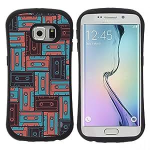 "Pulsar iFace Series Tpu silicona Carcasa Funda Case para Samsung Galaxy S6 EDGE , 90 Música Antigua del trullo del vintage Boom Sound"""