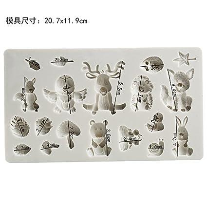 Animais molde de Silicone molde fondant ferramentas de decoração do bolo molde de chocolate
