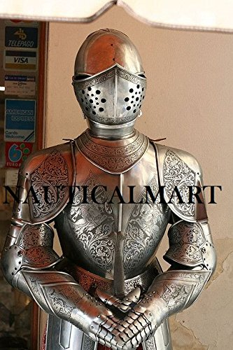 Spanish Full Suit of Armor - Medieval Renaissance Armour Costume With Free Display Stand