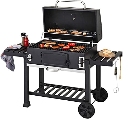 Cosmogrill Outdoor XXL Smoker Barbecue à charbon portable