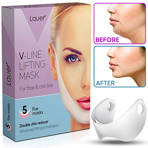 V Shaped Slimming Face Mask Double Chin Reducer V Line Lifting Mask Neck Lift Tape Face Slimmer Patch For Firming and Tightening Skin (Best Cream For Tightening Jaw Line)