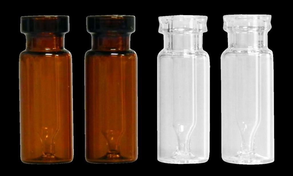 300/µL Capacity Amber JG Finneran Interlocked 30211L-1232A Borosilicate Glass Limited Volume Big Mouth Crimp Top Vials J.G Finneran Associates Inc. Case of 100