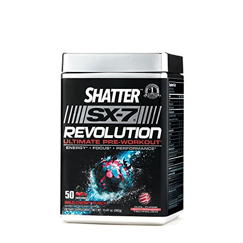 MuscleTech Shatter SX-7 Revolution Ultimate Pre Workout - Wild Cherry Punch