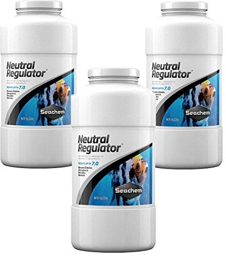 Seachem Neutral Regulator 3 Kilo/6.6lb Total (3 Bottles 2.2lb Each)