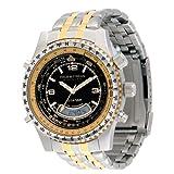Field & Stream Men's FE6BI Aviator Multi-Function Two-Tone Watch
