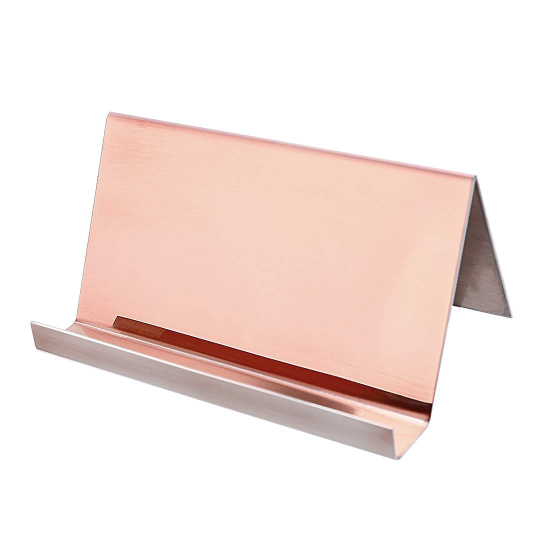 2 Pack Desktop Business Card Holder for Office Desk Name Card Display Rack Organizer Stainless Steel by WUYASTA (Image #8)