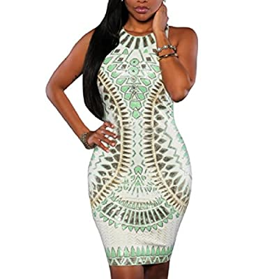 Misaky Women Dress, Bandage Cocktail Sleeveless Bodycon Evening Party Dresses