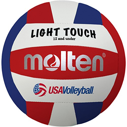 Molten Lite Volleyball - Molten MS240-3 Light Touch Volleyball, Red/White/Blue