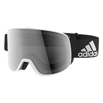 buy popular f36d3 3a463 Adidas ad81 6057 White Black Matt Black Mirror Progressor C Visor Goggles  Polar