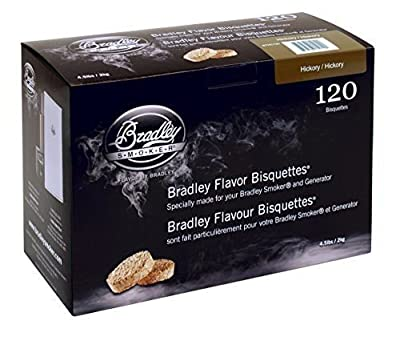 Bradley Hickory Bisquettes 120 pack Smoking Smoker Wood Chips