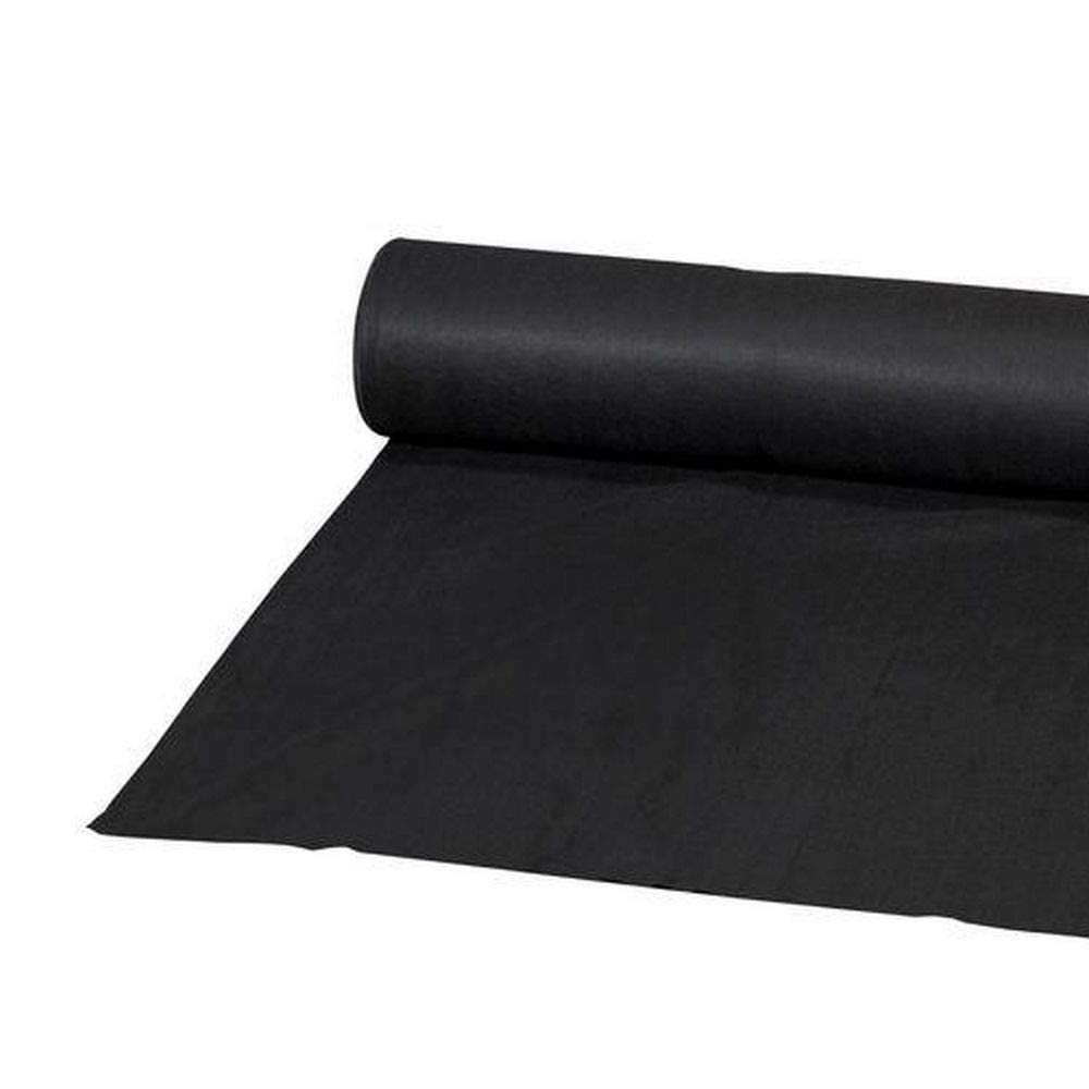 Eco.Fabric Weed Barrier 4.5oz Heavy-duty Landscape fabric Erosion Control Mat 3x100ft Black