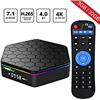 WISEWO Android 7.1 TV Box Media Player Set Top Box HD Video Octa Core CPU 3GB/32GB Smart Box Mini PC Support 4K2K 3D BT 4.0 Dual Wifi
