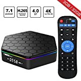 WISEWO Android 7.1 TV Box Media Player Set Top Box HD Video Octa Core CPU 3GB/32GB Smart Box Mini PC Support 4K2K 3D BT 4.0 Dual Band Wifi