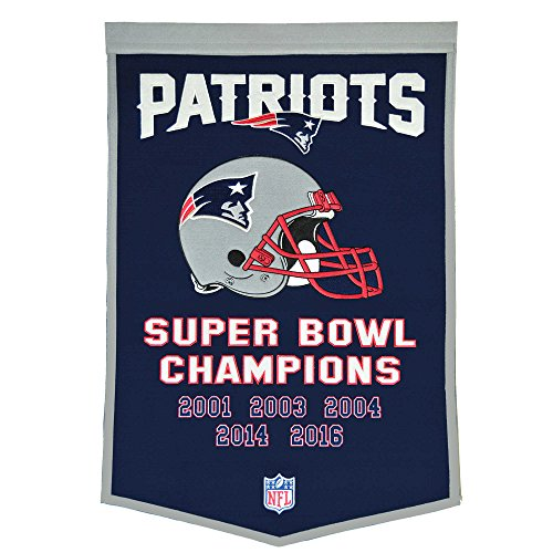 New England Patriots Dynasty Banner including Super Bowl LI Championship