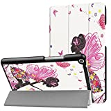 Ratesell Case for Huawei MediaPad T3 8.0 - Slim Folding Stand Cover Case with Auto Wake & Sleep Function for Huawei MediaPad T3 8.0 Elfin
