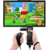 EEEKit 2 Packs Built in Motion Plus and Remote and Nunchuck Controller Set for Nintendo Wii Game Console with Silicon Case and Wrist Strap