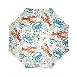 Yananka Umbrella,Compact Storage - Ideal Travel Accessory Fits Men & Women, Gift Choice 43.4''(W) x 25.6''(H) (8 Ribs),Starfish