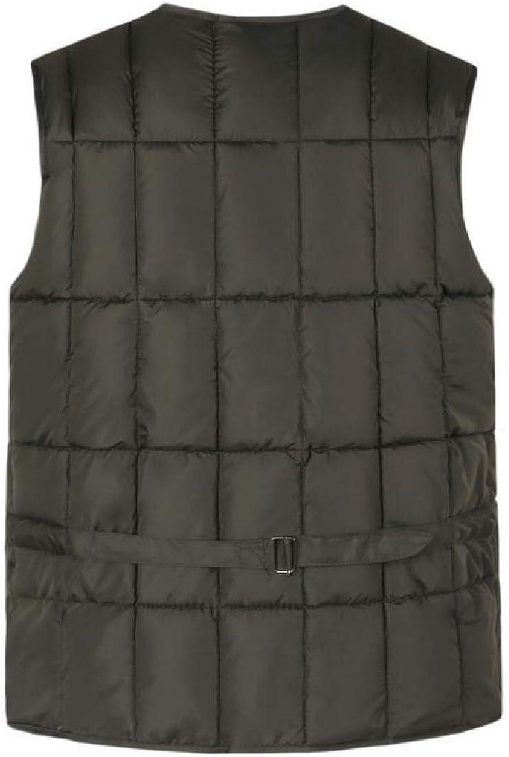 Winwinus Men Openwork Multi-Pockets Hiking Fall /& Winter Quilted Vest