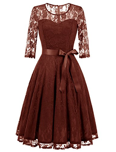 brown dresses for prom - 1