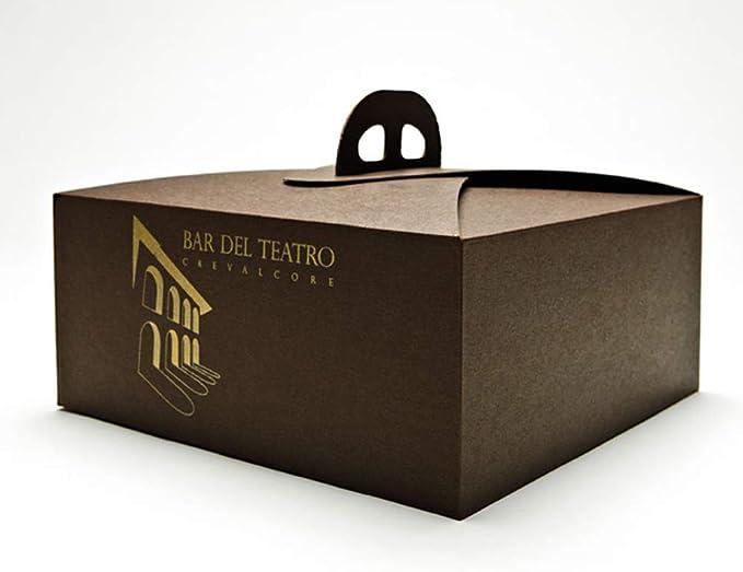 Caja porta tartas Elite marrón medida 29 x 29 pz.25: Amazon.es: Hogar