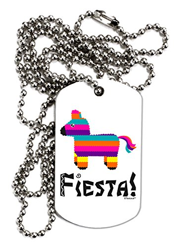 TooLoud Colorful Pinata Design - Fiesta Adult Dog Tag Chain Necklace