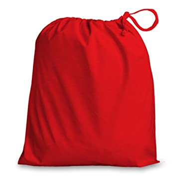 Red Large 100% Cotton Drawstring Bag 38x43cm - ideal for Gift bags ...