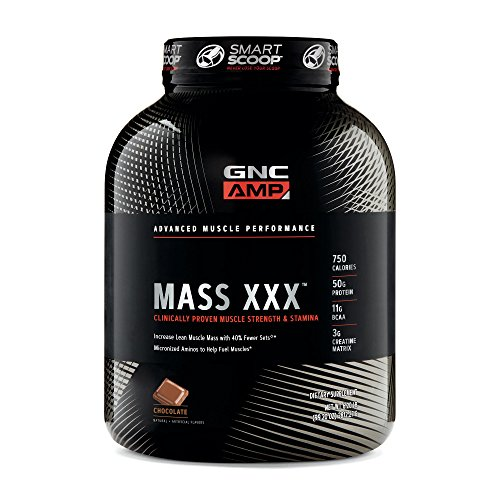 GNC AMP Mass XXX, Chocolate, 6.2 lbs, Supports Muscle Protein Synthesis