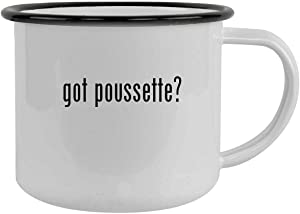 got poussette? - 12oz Camping Mug Stainless Steel, Black