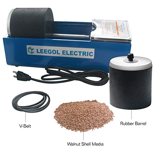 Leegol Electric Rotary Rock Tumbler Double Drum 6LB Lapidary Polisher (Double Drum)