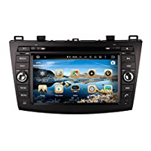 XTTEK 8 inch HD 1024x600 Multi-touch Screen in dash Car GPS Navigation System for Mazda 3 2010-2013 Quad Core Android DVD Player+Bluetooth+WIFI+SWC+Backup Camera+North America Map