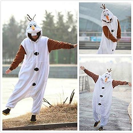 Everglamour - Disfraz del muñeco de nieve Olaf de Frozen (unisex ...