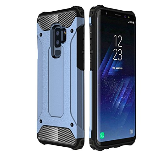 Samsung Galaxy S9+ Plus Case Navy Blue with Free Screen Protector, Rugged and Heavy Duty Military-Grade Protection Armour Phone Accessory Premium Material for Women and Men 2018 Release