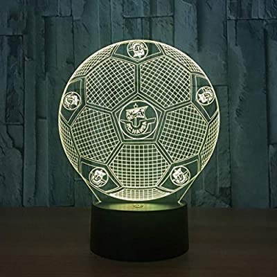 Jsmhh 3D pequeña luz de la Noche Creativa Real Madrid Fútbol Tabla ...