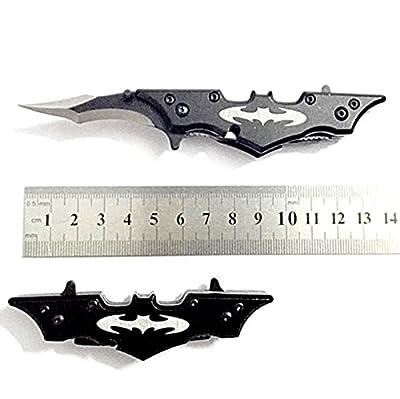 Cool Folding Cool Pocket Dark Knight Batman Black Titanium Knife Open Claymore Hiking Hunting Knife Accessories