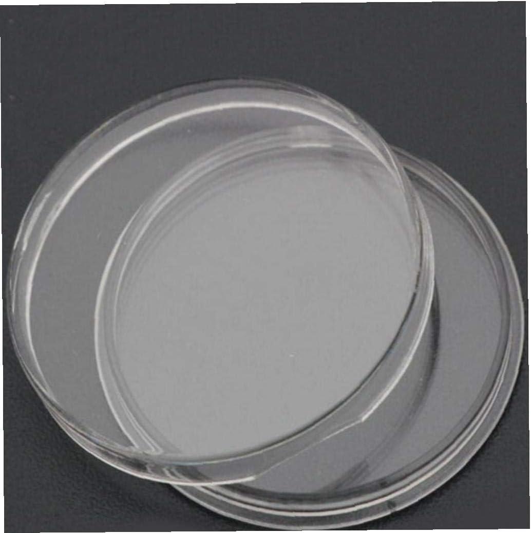 BYFRI 10pcs 33mm Coin Porte-Capsules en Plastique Clair Ronde Monnaie Container Cas pour La Collecte Daffichage Coin