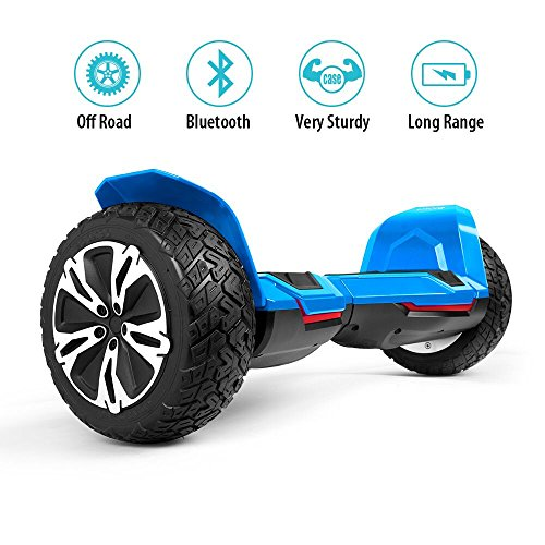 Gyroor Warrior 8.5 inch All Terrain OFF ROAD Hoverboard with Bluetooth Speakers and LED Lights, UL2272 Cetified Self Balancing scooter 2018(Blue) (Terrain All Board)