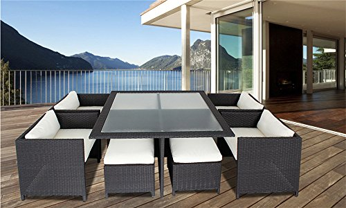 9 Piece Wicker Dining Sets, Patio Dining Set
