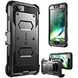 iPhone 7 Plus Case, iPhone 8 Plus Case [Armorbox] i-Blason Built In [Screen Protector] [Full body] [Heavy Duty Protection ] Shock Reduction / Bumper Case for Apple iPhone 7 Plus/iPhone 8 Plus (Black)