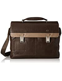 Piquadro Computer Briefcase with Two Closures, Grey/Taupe, One Size